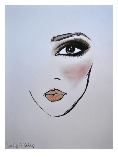 MaybellineNY_Smoky&Sassy-Cara Francis-Art Print