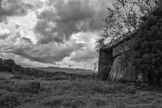 Mayberry Barn 2 BW-Bob Rouse-Photographic Print