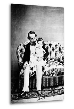 Emperor Napoléon III with the Prince Imperial, C.1860