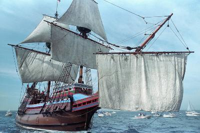 Mayflower II at Sea--Photographic Print