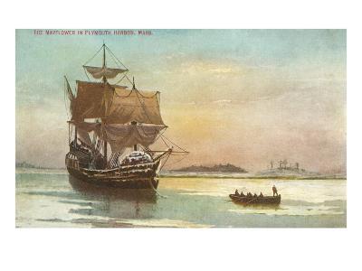 Mayflower, Plymouth, Mass., Illustration--Art Print