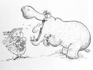 'I'm Not Scared of You, Mr Hippo' by Maylee Christie