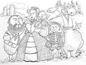 Medieval Family Portrait by Maylee Christie