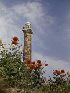 Astor Column in Astoria Marks the First Settlement in Oregon by Maynard Owen Williams