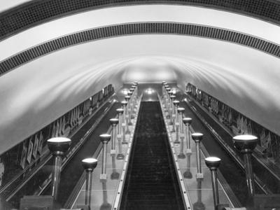 Escalators in a 'Tube' Station