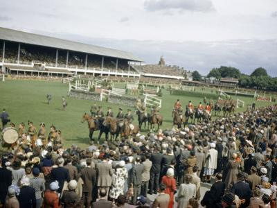 Jumping Teams Pass in Review at the Dublin Horse Show