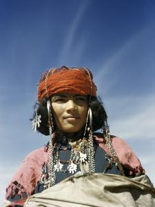 Portrait of a Nomadic North African Woman by Maynard Owen Williams