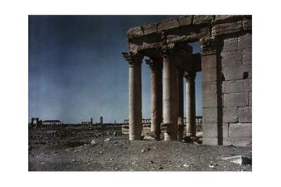 The Baal Temple with the Triumphal Gateway and Grand Colonnade Behind by Maynard Owen Williams
