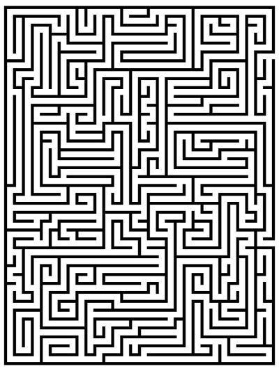 Maze Labyrinth-oriontrail2-Art Print
