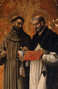 Polyptych, Saints Francis and Dominic by Mazone Giovanni
