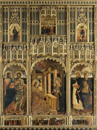 Polyptych with Annunciation and Saints into Aedicule of Gagini's School