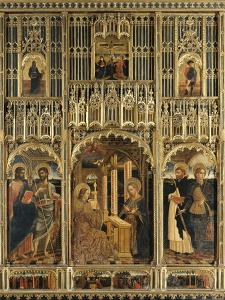 Polyptych with Annunciation and Saints into Aedicule of Gagini's School by Mazone Giovanni