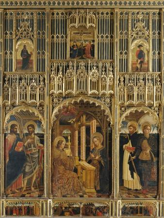 Polyptych with Annunciation and Saints
