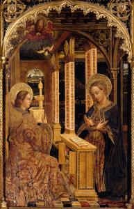 Polyptych with Annunciation and Saints by Mazone Giovanni