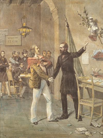 Mazzini and Garibaldi Meeting in Marseille, 1833--Giclee Print