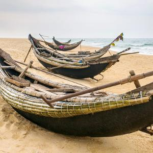 Old Fisherman Boats on the Beach in Hue Province, Vietnam by mazzzur