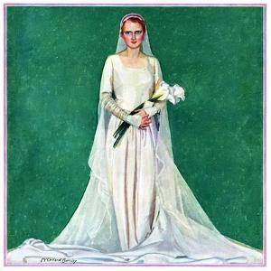 """Bride with Calla Lilies,""June 1, 1931 by McClelland Barclay"