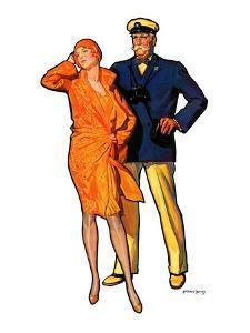 """Dapper Couple,""July 27, 1929 by McClelland Barclay"
