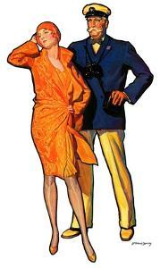 """Dapper Couple,""July 27, 1929 by McClelland Barclay"