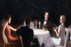 Dinner unter Sternen (Dinner Under the Stars) by McClelland Barclay