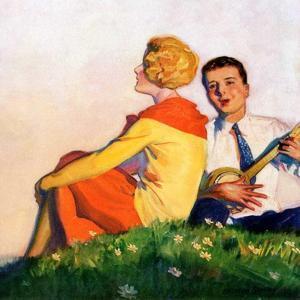 """""""Hillside Serenade,""""May 1, 1928 by McClelland Barclay"""
