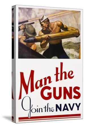 Man the Guns - Join the Navy Recruitment Poster
