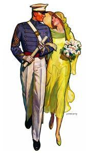 """Military Grad and Girl,""June 7, 1930 by McClelland Barclay"