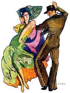 """The Flamenco,""February 1, 1930 by McClelland Barclay"