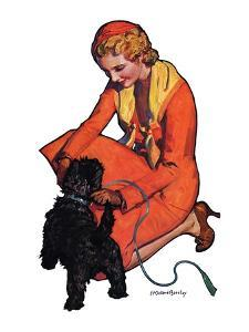 """""""Woman and Scottie,""""April 16, 1932 by McClelland Barclay"""