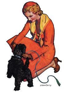 """Woman and Scottie,""April 16, 1932 by McClelland Barclay"