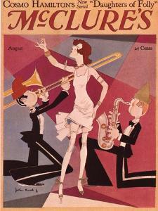 McClures, Trombones Saxophones Instruments Singers Magazine, USA, 1920