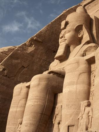 Colossal Statue of Ramses II Sits at the Entrance to the Great Temple of Abu Simbel, Egypt by Mcconnell Andrew