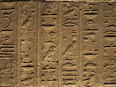 Hieroglyphs Adorn the Walls of the Temple of Philae, UNESCO World Heritage Site, Near Aswan, Egypt by Mcconnell Andrew