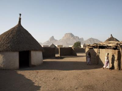Homes Lie in the Shadow of Taka Mountain in the Town of Kassala, Sudan, Africa by Mcconnell Andrew