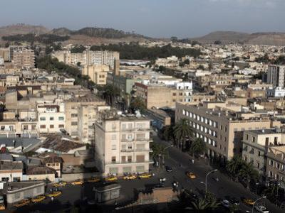 Overlooking the Capital City of Asmara, Eritrea, Africa by Mcconnell Andrew