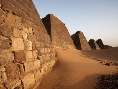 Pyramids of Meroe, Sudan's Most Popular Tourist Attraction, Bagrawiyah, Sudan, Africa by Mcconnell Andrew