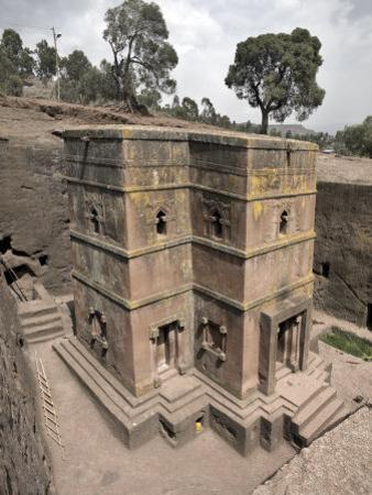 Rock-Hewn Church of Bet Giyorgis, in Lalibela, Ethiopia by Mcconnell Andrew