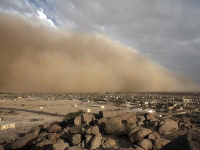 Sandstorm Approaches the Town of Teseney, Near the Sudanese Border, Eritrea, Africa by Mcconnell Andrew