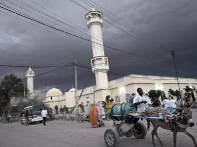 Storm Clouds Gather over a Mosque in the Center of Hargeisa, Capital of Somaliland, Somalia, Africa by Mcconnell Andrew