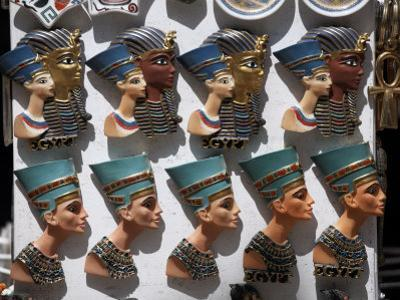 Various Egyptian Badges Depicting Pharaohs, on Sale at Aswan Souq, Aswan, Egypt by Mcconnell Andrew