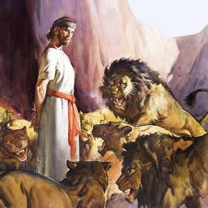 Daniel in the Lions' Den by McConnell