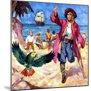 Long John Silver and His Parrot by McConnell
