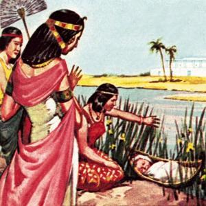 Moses in the Bullrushes by McConnell