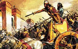 Sennacherib, King of Assyria, Besieging Jerusalem by McConnell