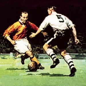 Stanley Matthews About to Win His One Cup Winner's Medal by McConnell
