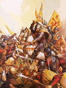 Wallenstein at the Battle of Lutzen by McConnell