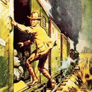 Winston Churchill Jumping from a Train During the Boer War by McConnell