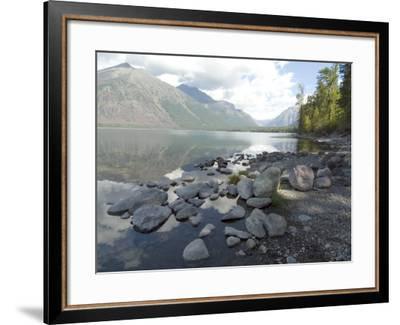 Mcdonald Lake, Glacier National Park, Montana, USA-Ethel Davies-Framed Photographic Print
