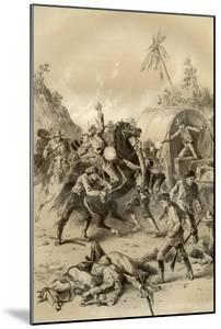 Gold Escort Attacked by Bushrangers, Australia, 1879 by McFarlane and Erskine