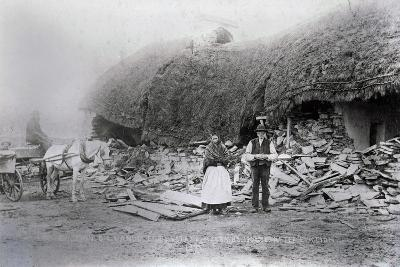 Mcgrath's House, on the Vandeleur Estate, after Eviction, Ireland, 1888--Photographic Print